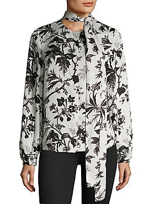 McQ Alexander McQueen Floral Knotted Blouse