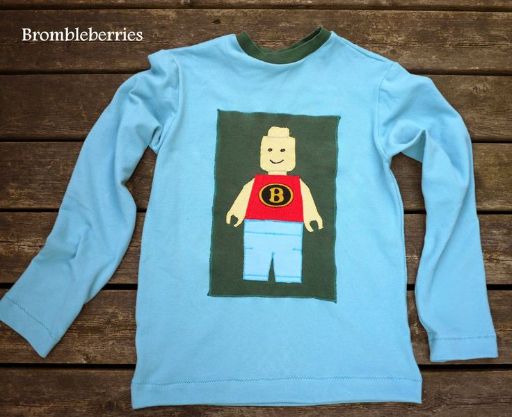 Brombleberries: Re-designet Legomand bluse. (Lego blouse)