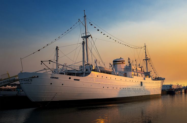 Gil Eannes - former Portuguese hospital ship, now permanently moored in the Port of Viana do Castelo, Portugal serving as museum ship and youth hostel.