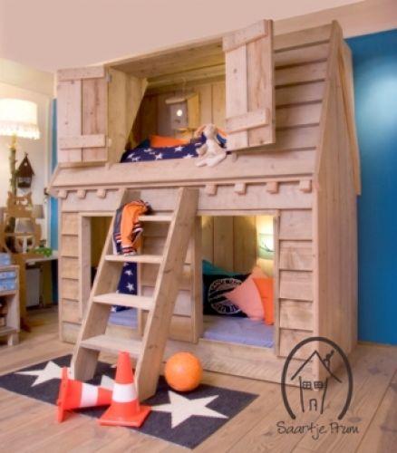 16 beste afbeeldingen over diy kinderbed op pinterest jongenskamers trappen en geweldig - Stapelbed met opslag trappen ...