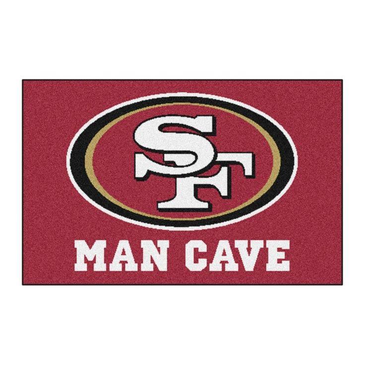 """NFL San Francisco 49ers Man Cave Starter Rug 19""""x30"""""""