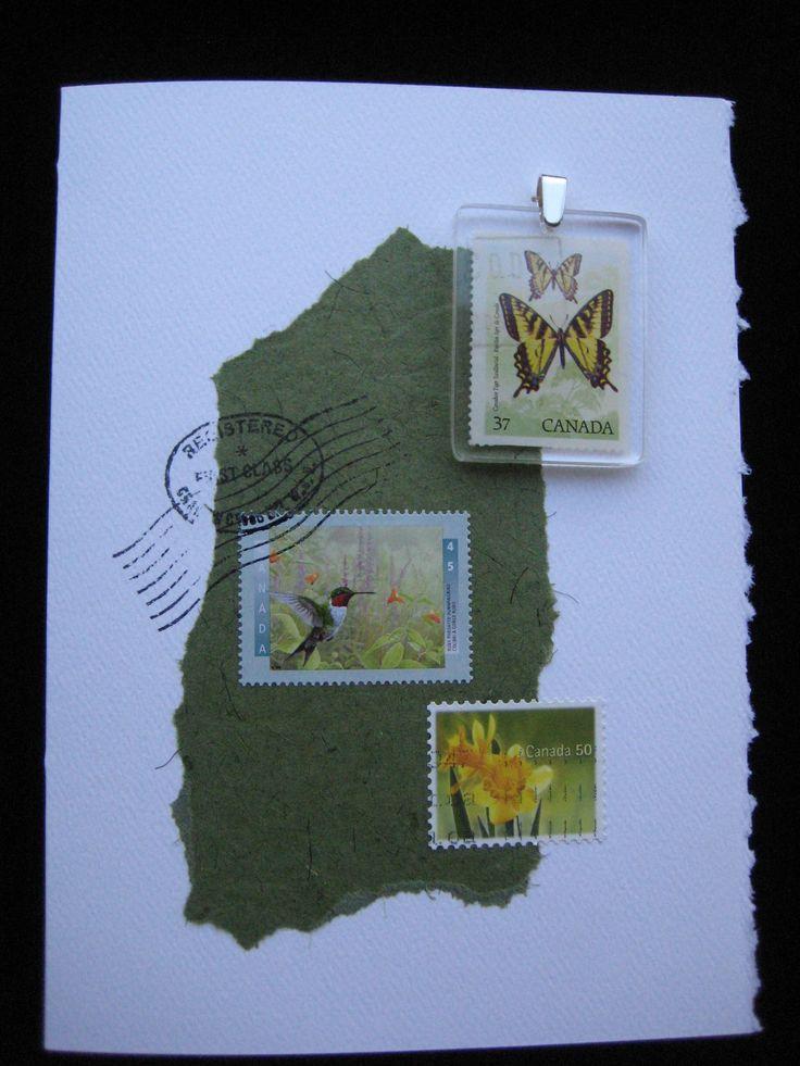 Butterflies, hummingbird and daffodils.