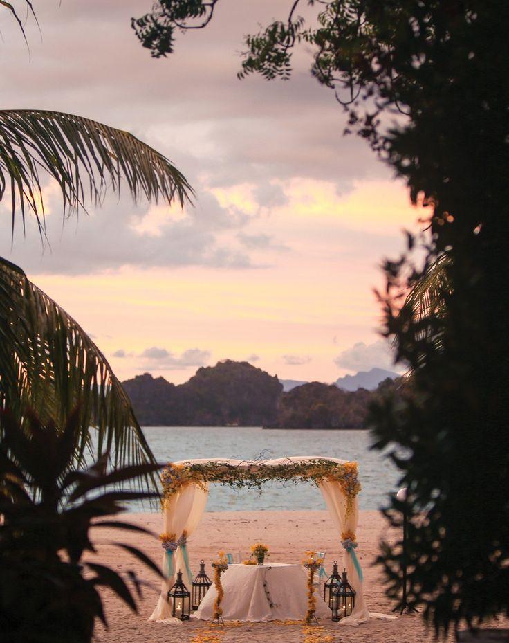 all inclusive beach wedding destinations%0A At Four Seasons Langkawi  aisles always come with an aweinspiring view   Wedding CanopyRomantic WeddingsBeach