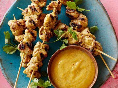 ... chicken food chicken skewered aromatic peach no cook peach chutney