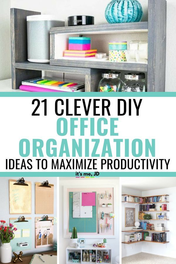 21 clever diy office organization ideas to maximize productivity rh pinterest com