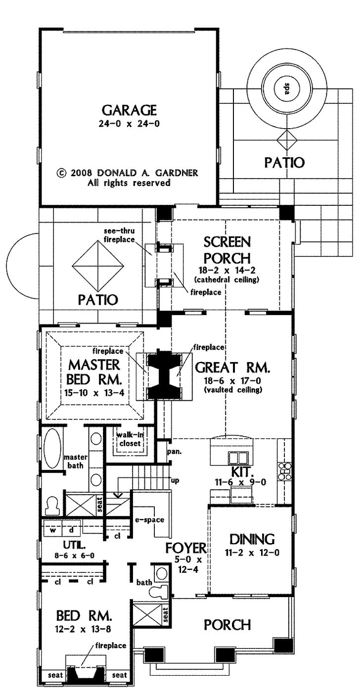 Narrow Lot House Plans With Rear Garage Part 90