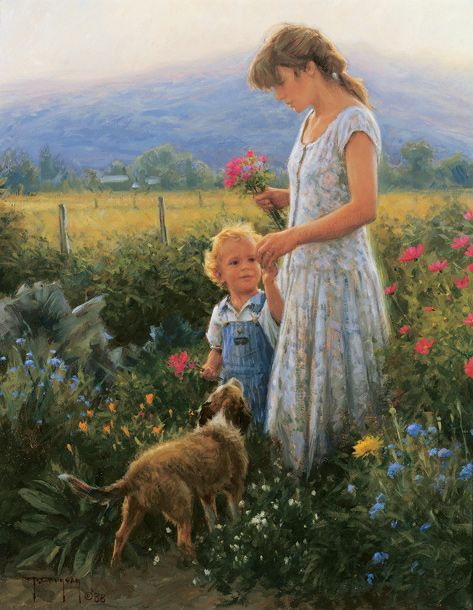 Robert Duncan (1952, American)  Duncan lives in Midway, Utah  I have been to his studio. Uses family members for subjects.