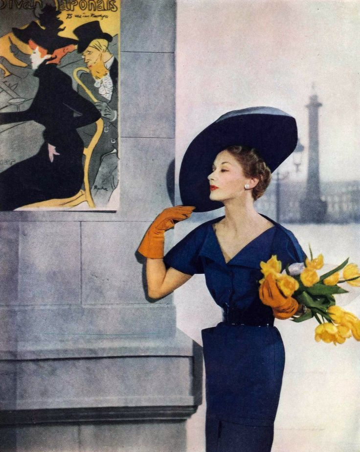 Ciao Bellissima - Vintage Glam; Lisa Fonssagrives-Penn wearing Jacques Fath