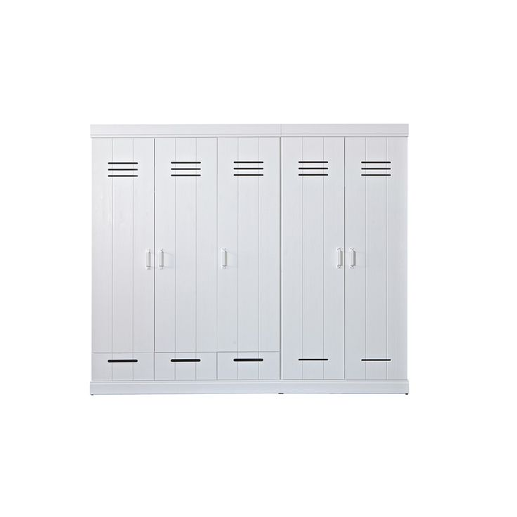 CONNECT Contemporary 3 Door Locker Cabinet With Storage