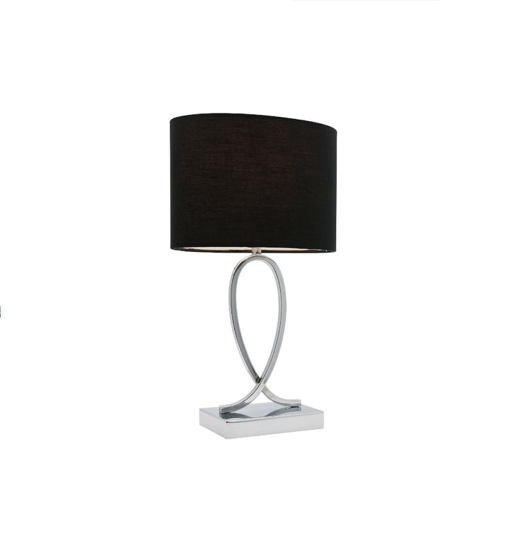 Campbell Large Touch Table Lamp Chrome with White or Black Shade Mercator, $88.00