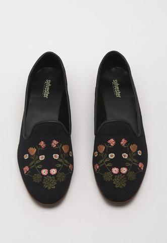 Cactus Flower Loafer - Black