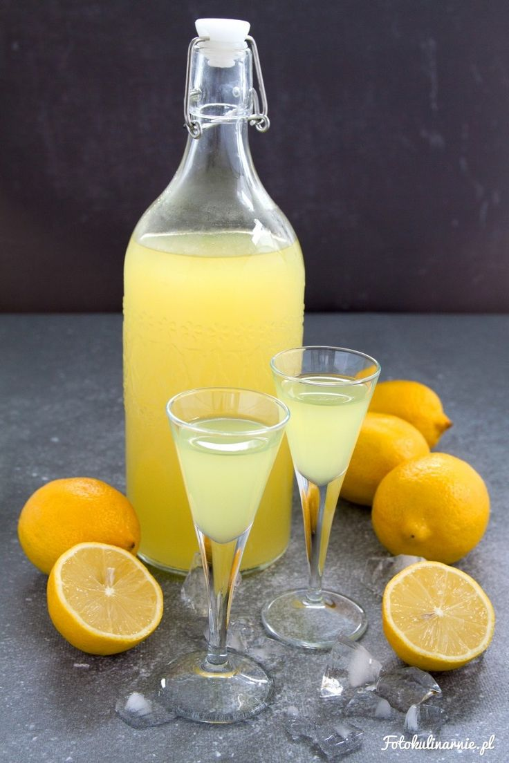 Homemade Limoncello.