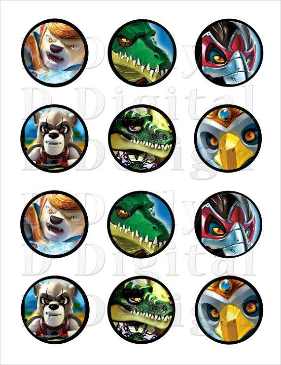 Legends of chima diy stickers cake cupcake by dailydigitaldesigns 5