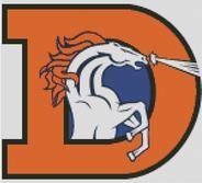 Denver Broncos Cross Stitch Design