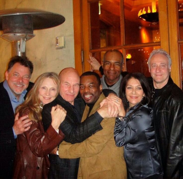 The cast of Star Trek: The Next Generation