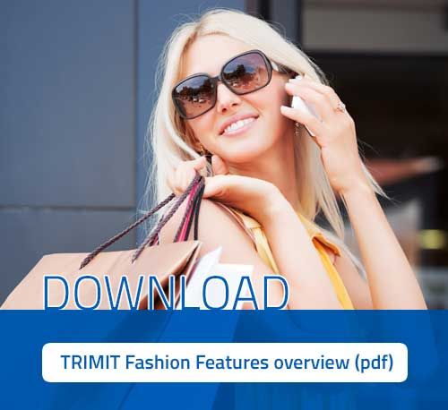 TRIMIT Fashion - features overview (pdf) by Silverware.  TRIMIT combines ERP & Ecommerce software in one seamlessly integrated solution for the fashion industry.   #Fashion #textiles #clothing #footwear #ERP #Ecommerce