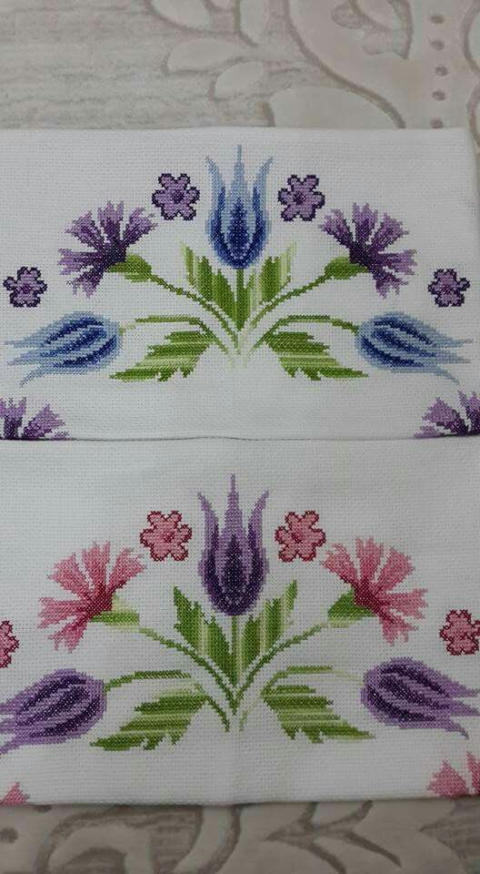 Flowers cross-stitch