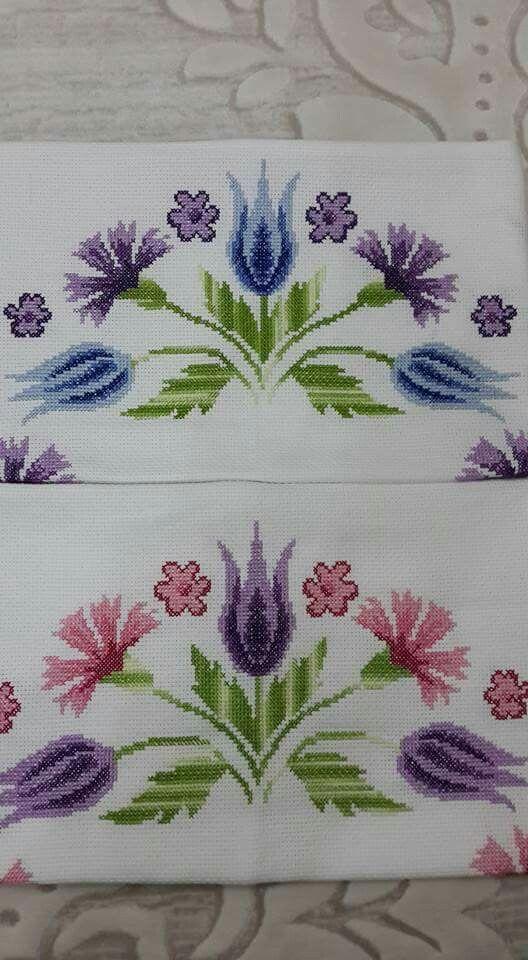 Flowers cross-stitch