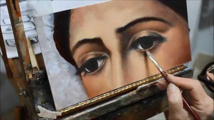 Cómo pintar ojos al oleo - Tutorial