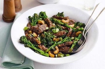 Sticky Beef with Cashews recipe