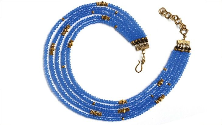 Elegant rondelle multistrand necklace