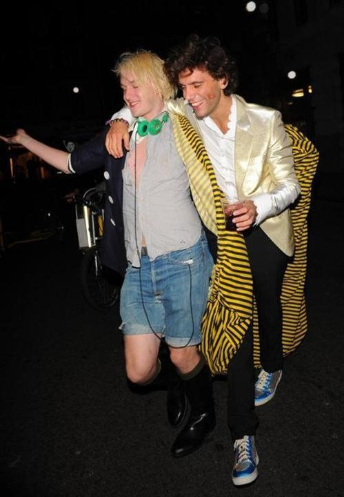 Mika and Patrick Wolf at a drag queen ball after-party September 2009