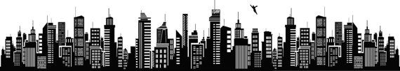 Superhero Super Hero Long Skyline Decal