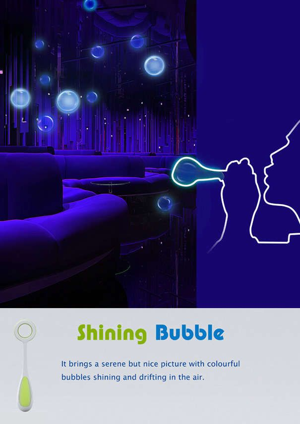 Night Vision Bubble-Blowing : Glow in the Dark Bubbles