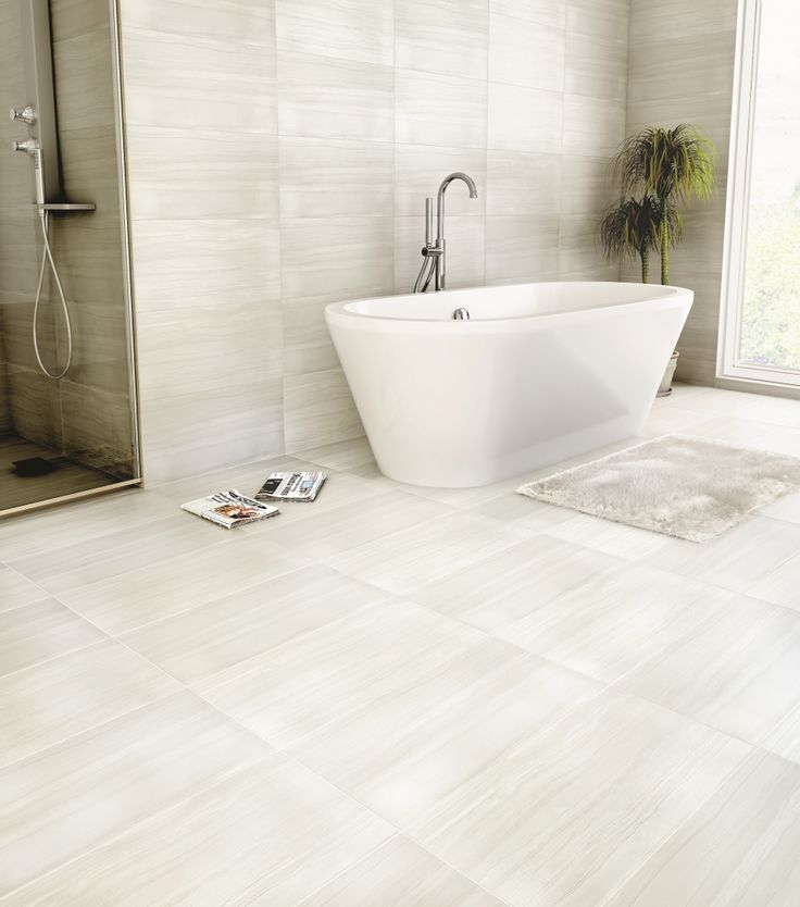 "Architectural Ceramics Constantine Rectified Field Tile in Perlato Bianco, 12"" x 24"", 1-3 week lead time"