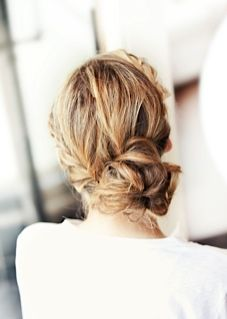 """loose updo - we call it the """"Sophia"""" - can be worn with or without the braid #wedding #bridal #hair"""