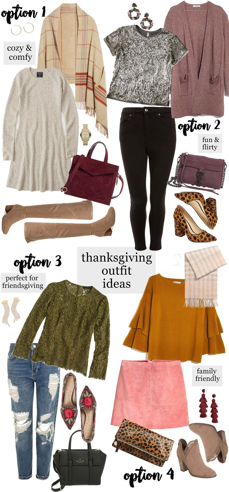Thanksgiving Outfit Ideas via Glitter & Gingham / What to wear for Thanksgiving