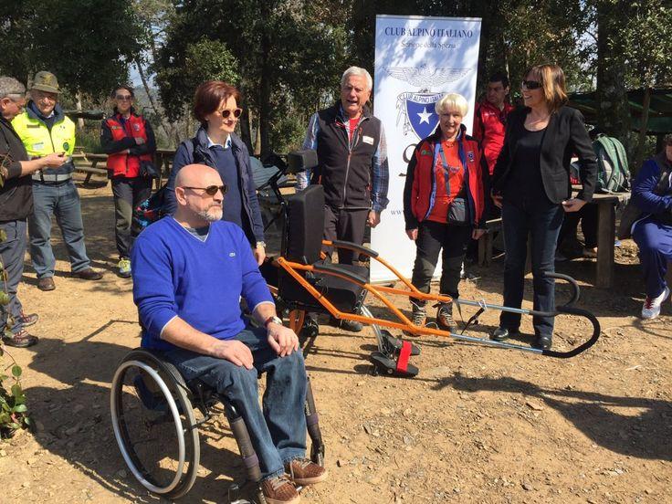 La Spezia: presentata la carrozzina per escursioni senza barriere