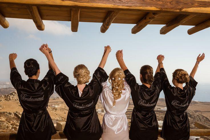 #bridesmaids | M&A Mykonos Weddings | www.mamykonosweddings.com