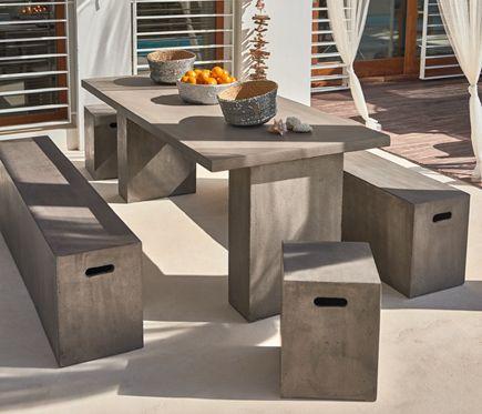 Conjunto exterior cemento portland leroy merlin terraza mesas jardin mesas rectangulares Sillas terraza leroy merlin