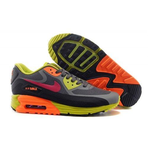 Predaj Pánske Nike Air Max 90 PRM EM Bežecká obuv šedá/ruzove/Flurorescent zelene/pomaranč