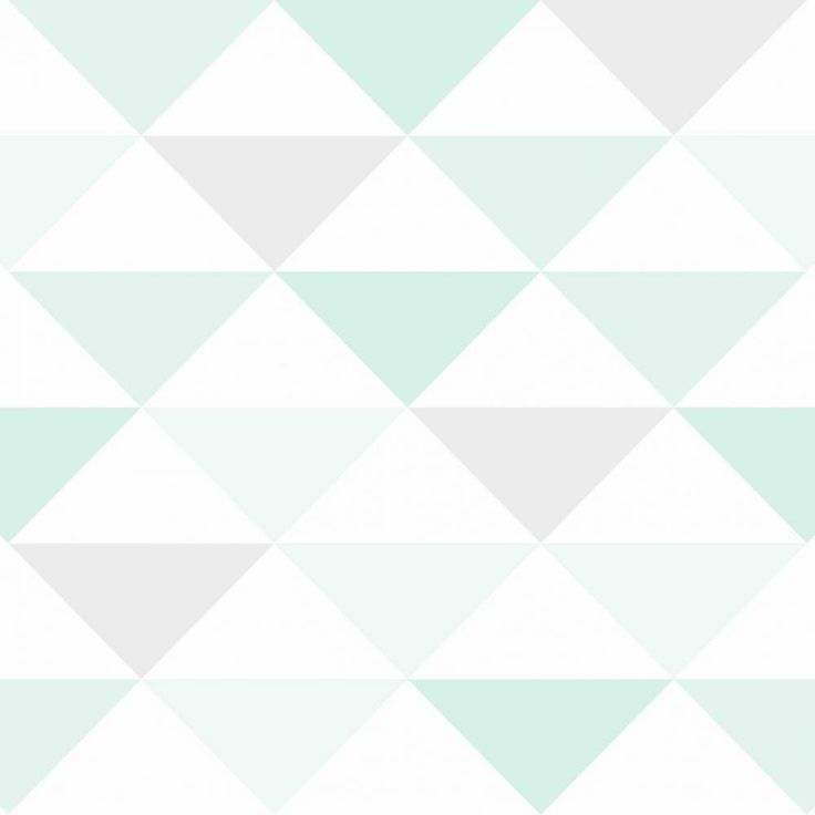 Papel de parede coleção geometria triângulos em tons de branco, verde e cinza - PA7806