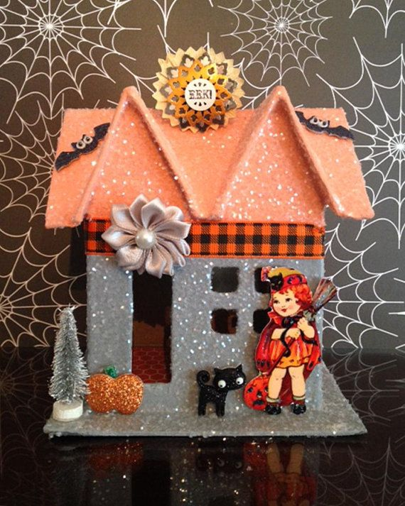 13 best vintage Halloween images on Pinterest Glitter houses - best decorated houses for halloween