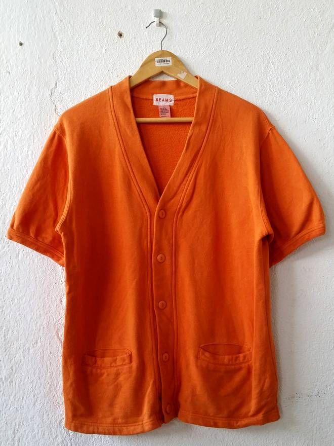 Beams Plus Beams Buttons Up Orange Cardigan Short Sleeve Size Medium Size US M / EU 48-50 / 2