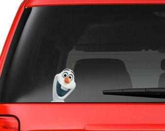 Frozen Olaf on Board Funny Joke Novelty Car Bumper Window Sticker Decal Colour Gift