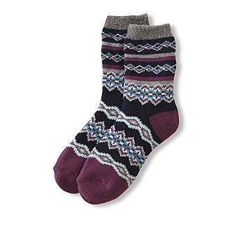 Joe Boxer Women's Plush Knit Cabin Socks - Geometric Print