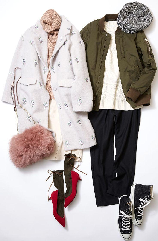 可憐なパステルスタイルでショッピングデート! ルミネ横浜のショップからカッコよさとフェミニンさを程よくミックスした真冬のスカートスタイルをセレクト! 人気スタイリスト田沼智美さんがベーシックなアイテムにカジュアル&モードなエッセンスを取り入れた親しみあるコーディネートをアドバイスします。