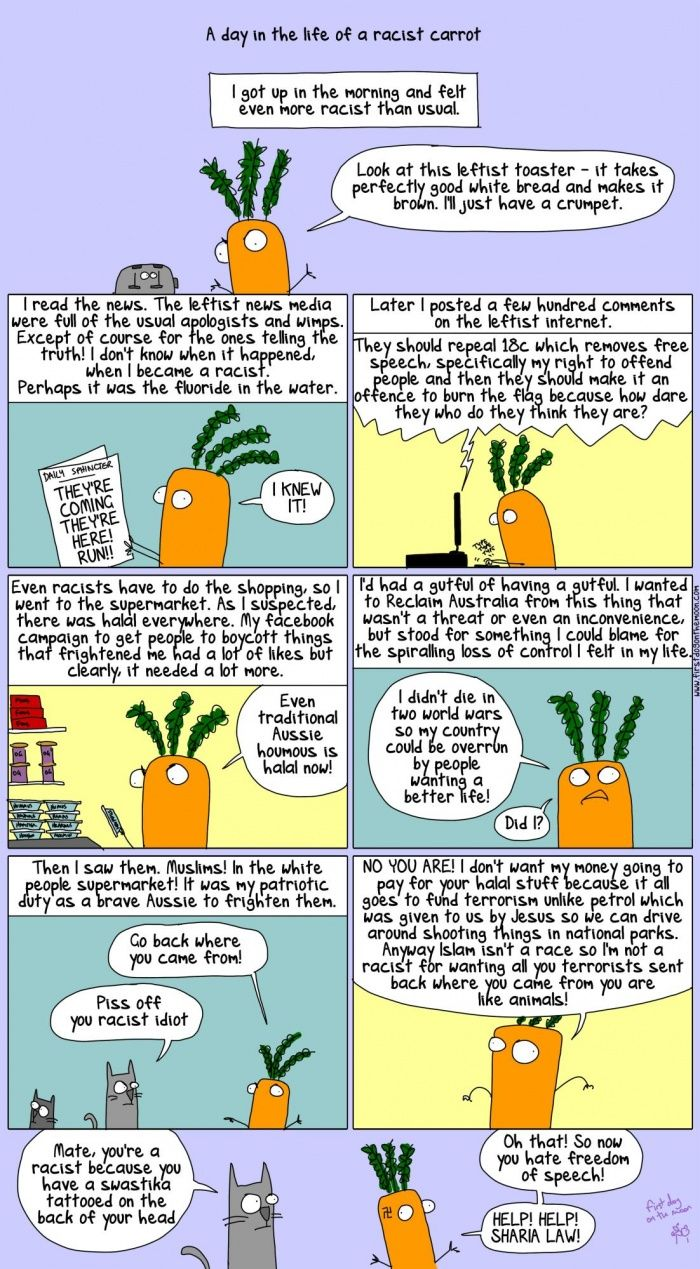 A racist carrot reclaims Australia | First Dog on the Moon