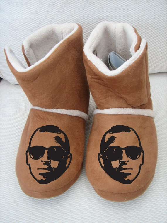 Chris brown slippers lil wayne i love hoodie personalised shirt boots shoe hip hop yolo soul. £15.00, via Etsy.