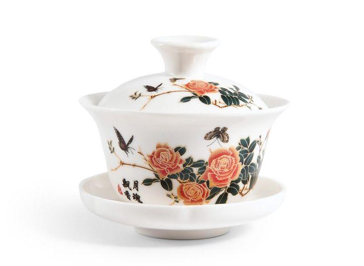 Гайвань Розовый Куст, 100 мл (фарфор) в интернет-магазине Чаек.ру http://www.4aek.ru/