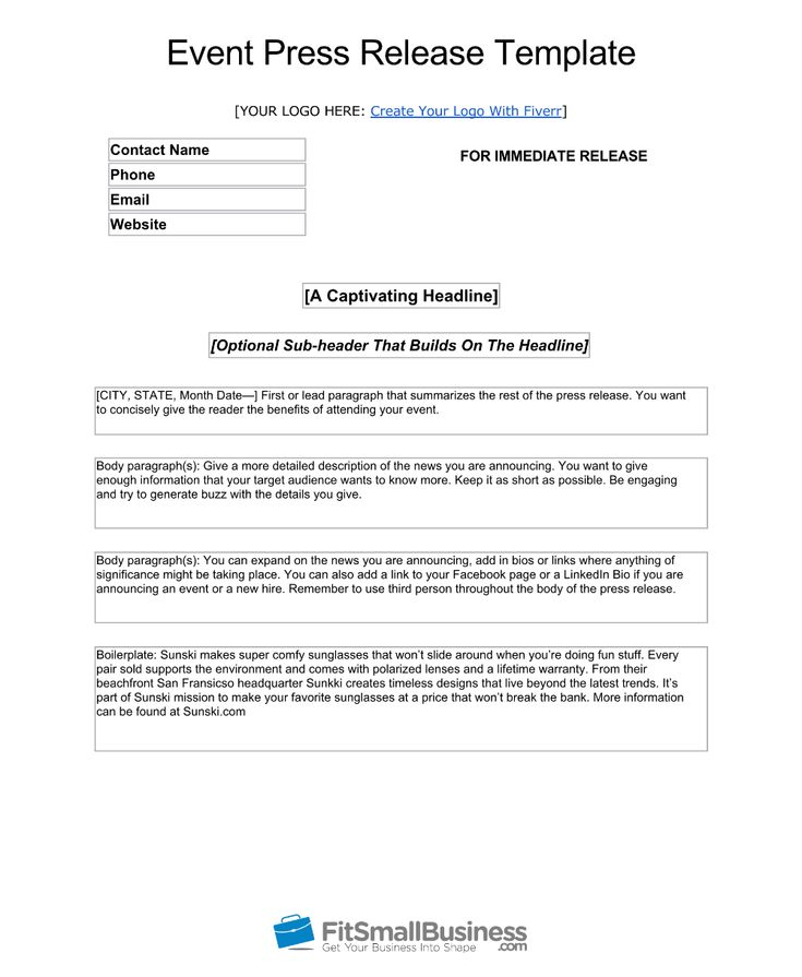How To Write An Ap Style Press Release Template
