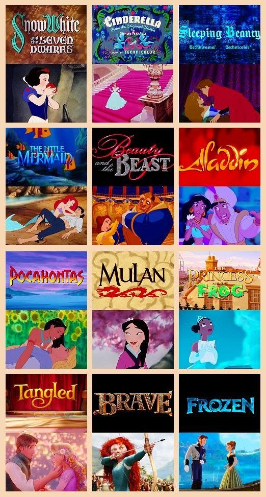 Disney Princesses' Movies