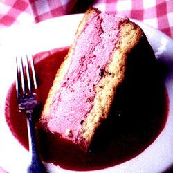 Raspberry Charlotte  ~ Direct from Paris, a cool and creamy raspberry mousse sandwiched between two layers of fluffy cake.