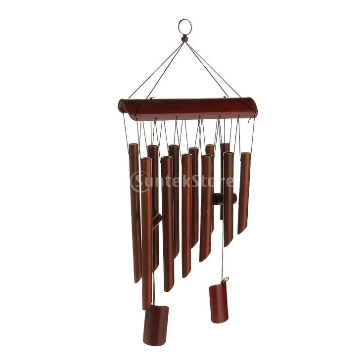 Large Bamboo 8 Tube Wind Chimes Mobile