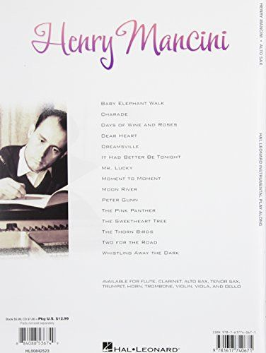 Henry Mancini For Alto Sax - Instrumental Play-Along Cd/Pkg (Hal Leonard Instrumental Play-Along)