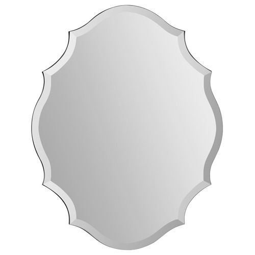Emma All Glass 28 Inch Frameless Mirror Ren Wil Frameless Mirrors Home Decor